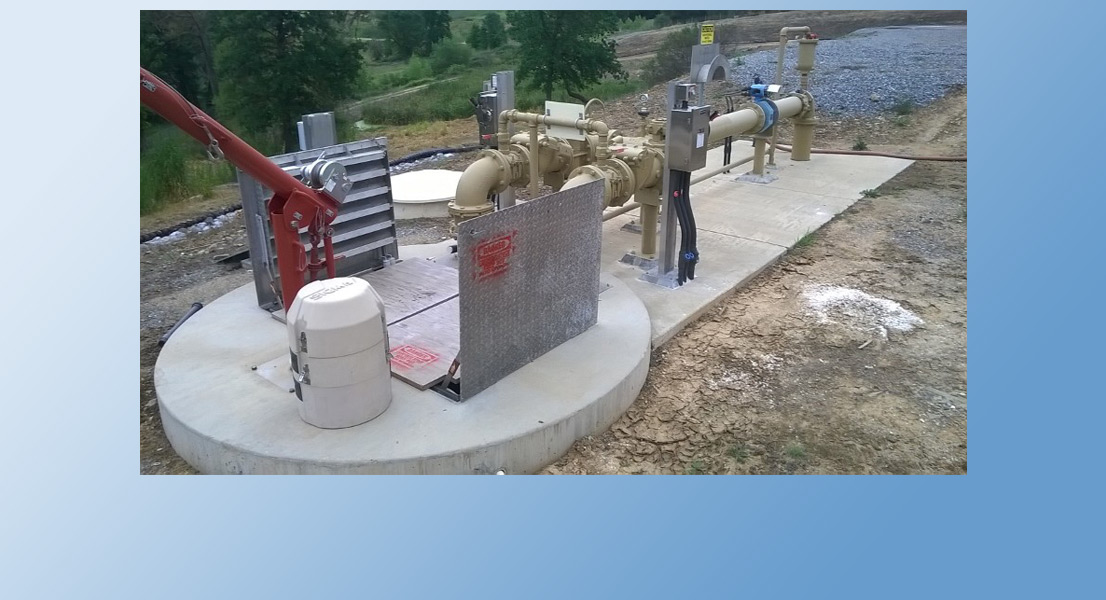 The Process Feed Pump Station moves the wastewater to the next step of the treatment process, at the other end of the facility.