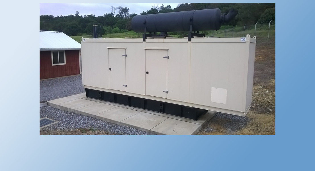The entire facility is equipped with backup power generators such as this one. In the event of a power outage, the plant is still required to treat dirty wastewater effectively. After all, the sewer doesn't stop when the power's out!